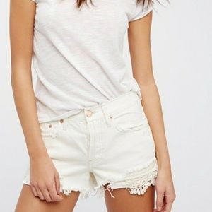 Free people | We the free off white cut off shorts
